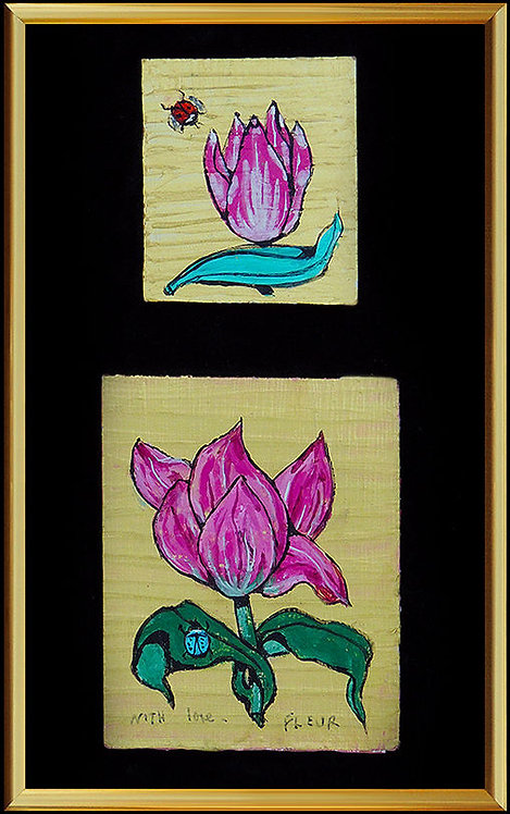 """Original Blossoming Flower"" by Fleur Cowles"