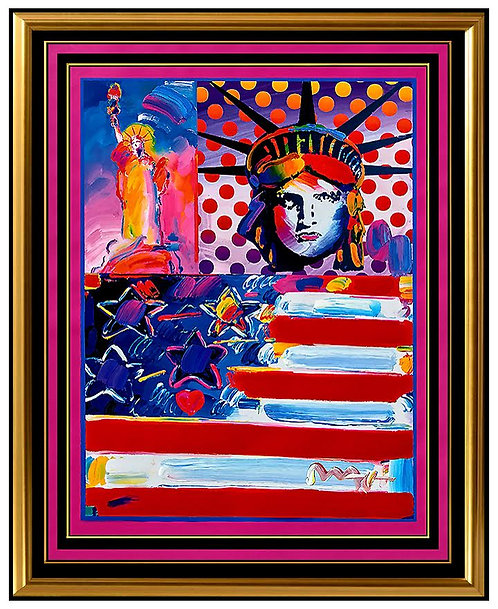 """God Bless America"" by Peter Max"
