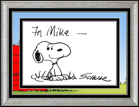 """""""Out of The Dog House"""" by Charles Schulz"""