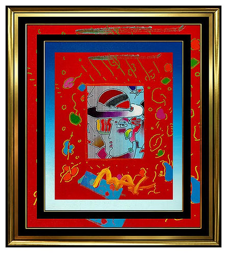 """Original Zero Man"" by Peter Max"