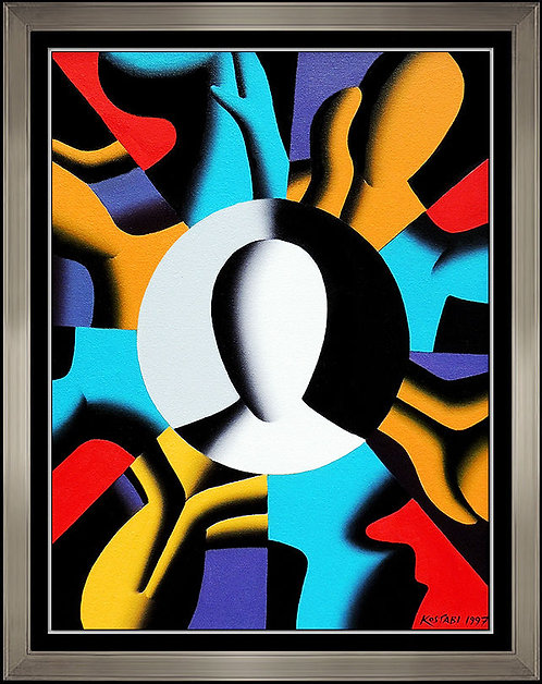 """Original Movement in Time"" by Mark Kostabi"