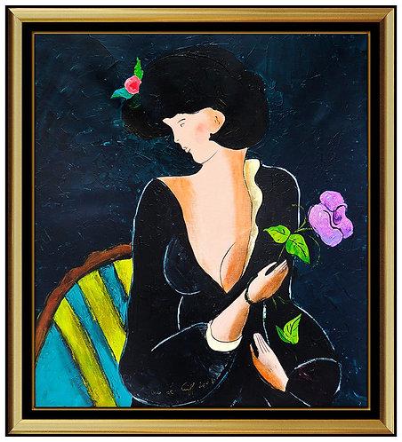 """""""Original Violet Flower"""" by Linda Le Kinff"""