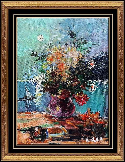 """Flowers in the Moonlight"" by David Burliuk"