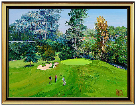 """Bel Air Country Club, Hole #17"" by Mark King"