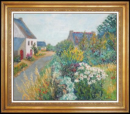 """""""Original Jardin Dans Le Village"""" by Itzchak Tarkay"""