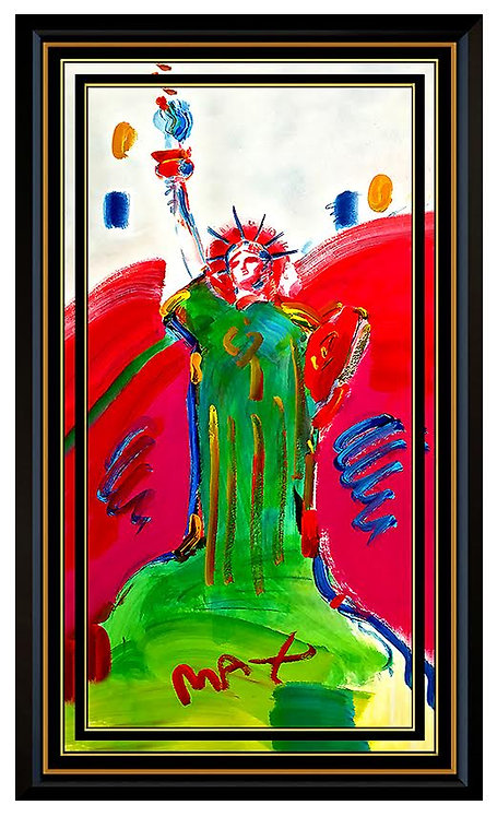 """""""ORIGINAL STATUE OF LIBERTY"""" by Peter Max"""