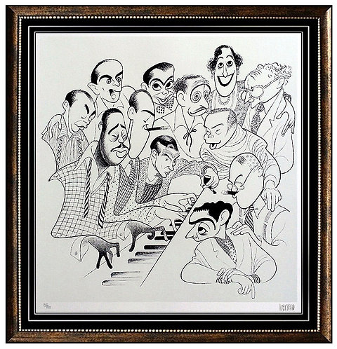 """American Popular Song: Great American Songwriters"" by Al Hirschfeld"