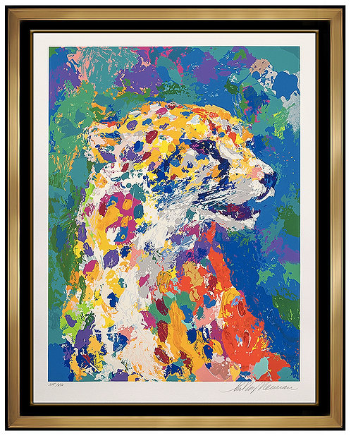 """Portrait of a Cheetah"" by LeRoy Neiman"