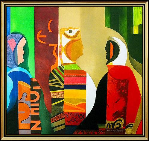 """""""Les Femmes Algiers"""" by Max Papart"""
