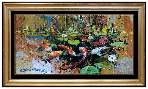 """Original Gliding In A Still Pond"" by James Coleman"