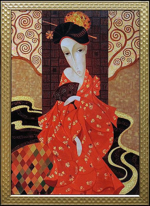 """Geisha in Red"" by Sergey Smirnov"