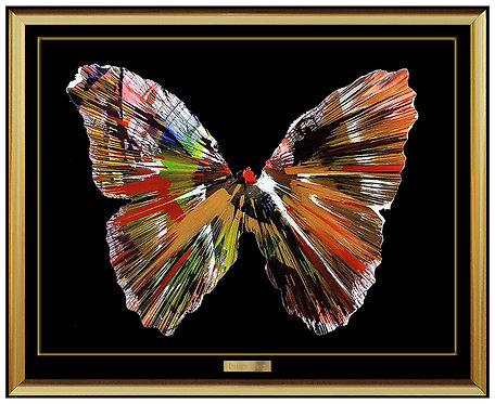 """Original Butterfly Spin Painting"" by Damien Hirst"