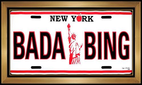 """""""BADA BING"""" by Steve Kaufman"""