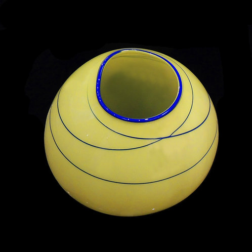 """Citron Basket with Blue Wraps"" by Dale Chihuly"