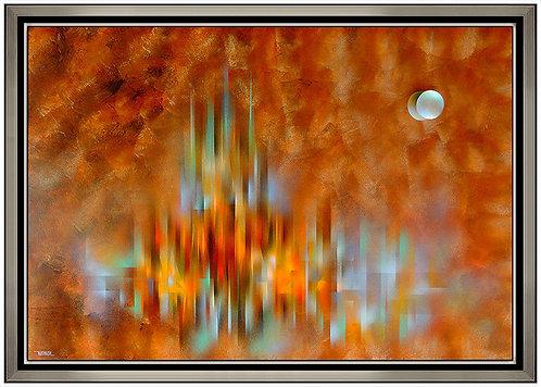 """Original Prismatic City"" by Leonardo Nierman"