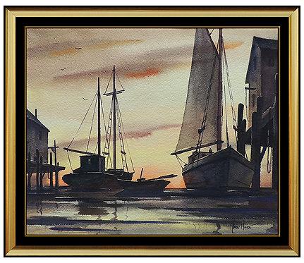 """""""Original Gloucester Sunrise"""" by John Cuthbert"""
