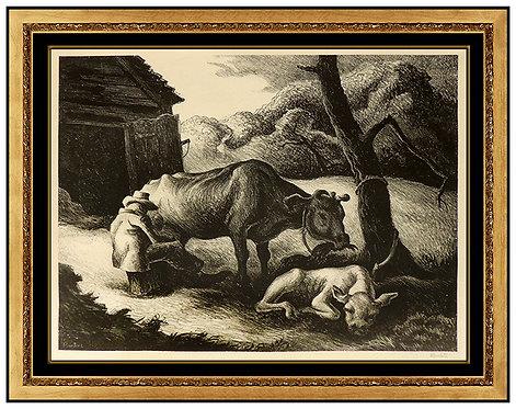 """""""White Calf"""" by Thomas Hart Benton"""