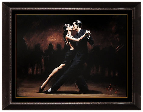 """Tango in Paris in Black Suite"" by Fabian Perez"