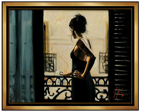 """Balcony at Buenos Aires IX - Hand Embellished"" by Fabian Perez"