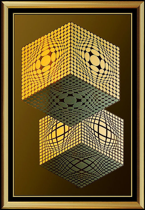 """Vega Kocka"" by Victor Vasarely"