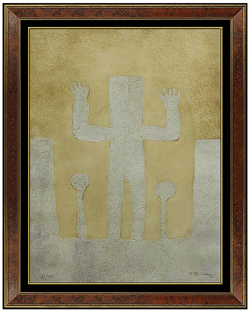 """""""Personaje con Dos Arboles"""" by Rufino Tamayo"""