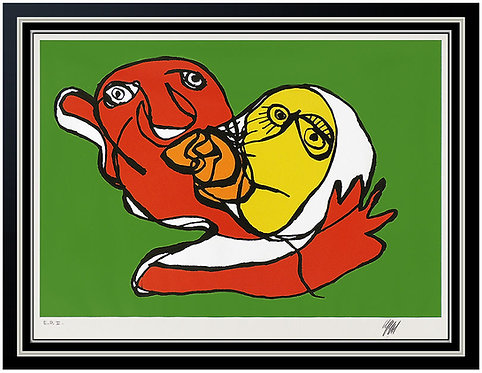 """""""The Kiss (Green)"""" by Karel Appel"""