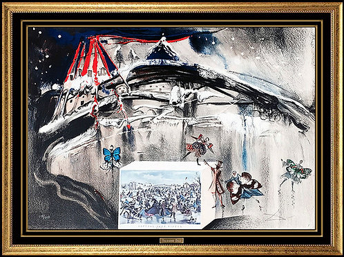 """""""New York Central Park Winter"""" by Salvador Dali"""