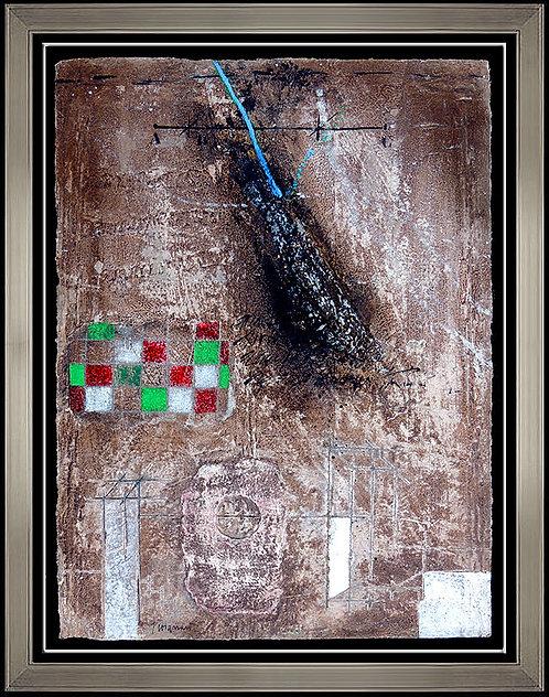 """""""Original Assemblage Sur Rouge"""" by James Coignard"""