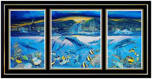"""Lahaina Visions - Triptych"" by Chris DeRubeis"