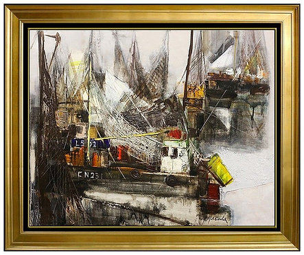 """Portrait of the Harbor"" by Masuda Makoto"