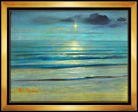 """Moonlight Seascape Original"" by Peter Ellenshaw"