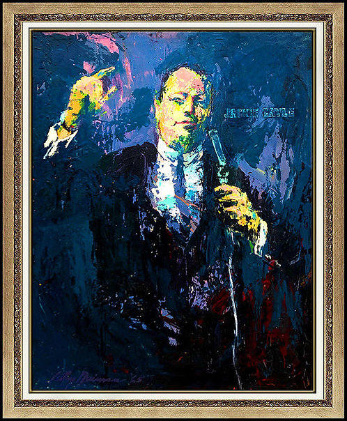 """The Original Vegas Comedian - Jackie Gayle"" by LeRoy Neiman"