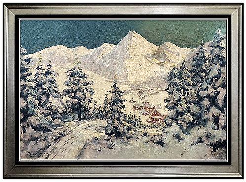 """Alpine Village"" by Laszlo Neogrady"