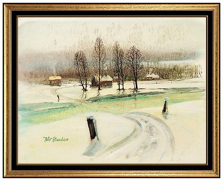 """Warming Cabins Original"" by Peter Ellenshaw"