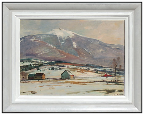 """Original Mt. Mansfield, Vermont - Winter"" by A.T Hibbard"