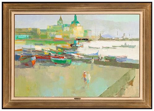 """Original Port of Pozzuoli"" by Nicola Simbari"