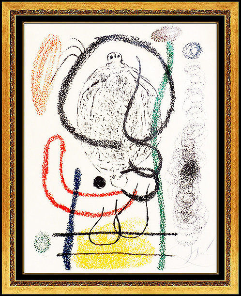 """Plate 5, from Album 21 (M.1126)"" by Joan Miro"