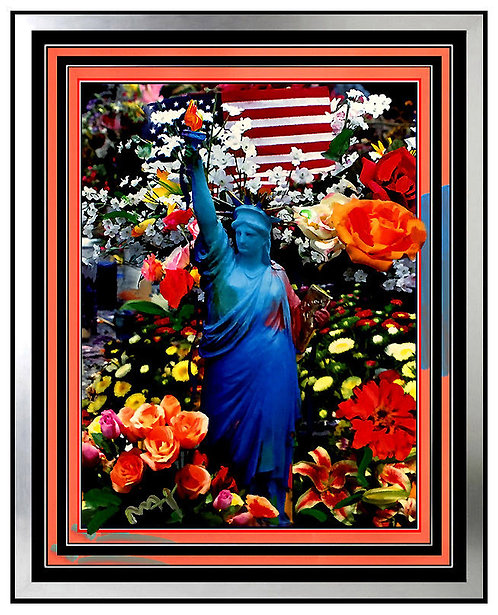"""Land of the Free, Home of the Brave - Silver"" by Peter Max"