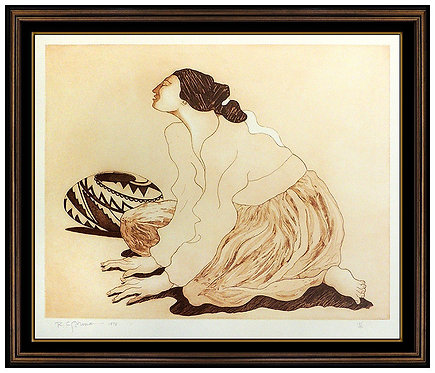 """""""Woman with Pot"""" by R.C Gorman"""