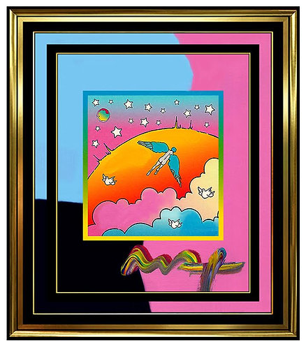 """Angel over Clouds"" by Peter Max"