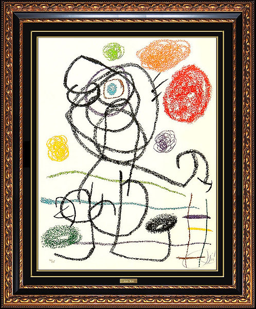 """""""Plate 1, from Album 21 (M.1135)"""" by Joan Miro"""