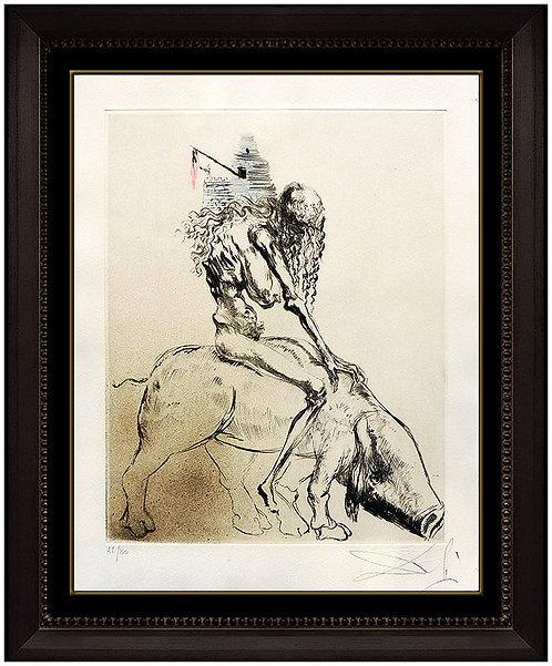 """""""Femme Au Cochon"""" by Salvador Dali"""