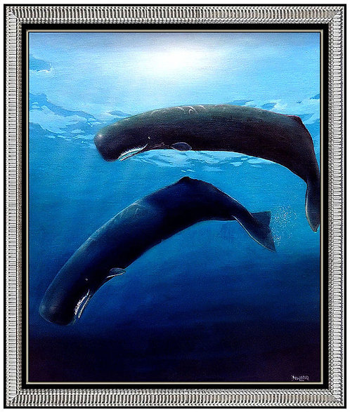 """Great Sperm Whales"" by Robert Wyland"