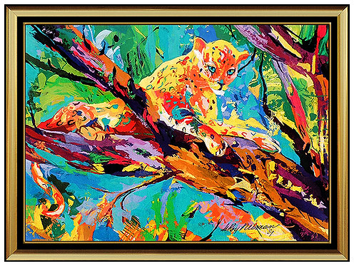"""Serengeti Leopard - Tapestry"" by Leroy Neiman"
