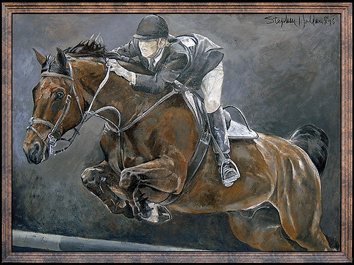 """Original Horse and Rider"" by Stephen Holland"