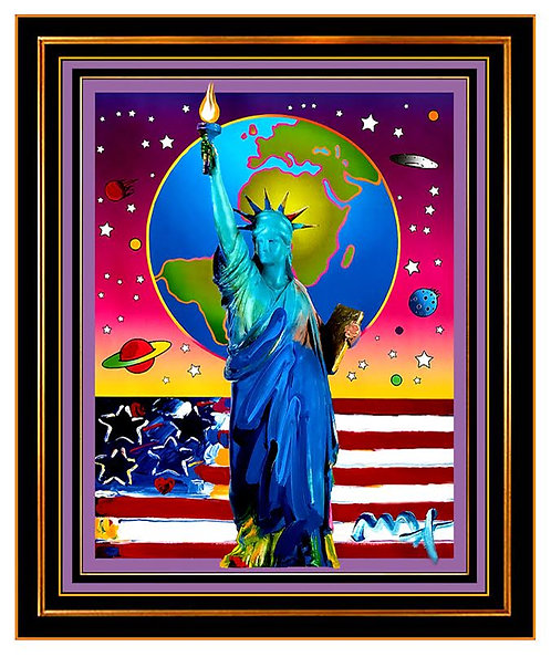 """Statue of Liberty with Earth and Flag"" by Peter Max"