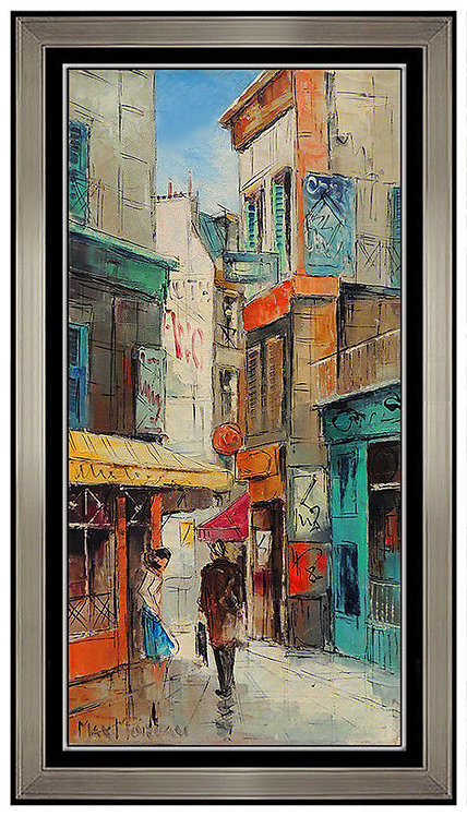 """Original Parisian Back Streets"" by Max Moreau"