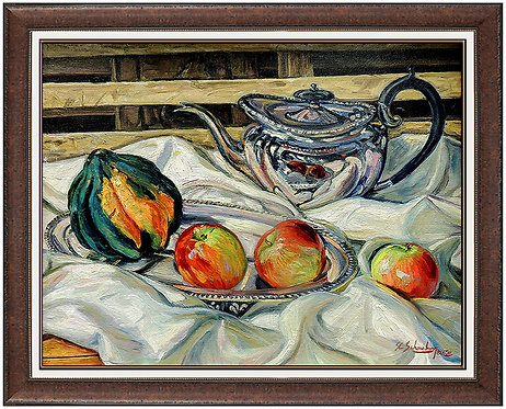 """Still life with Lobster Trap"" by Sheldon SC Schoneberg"