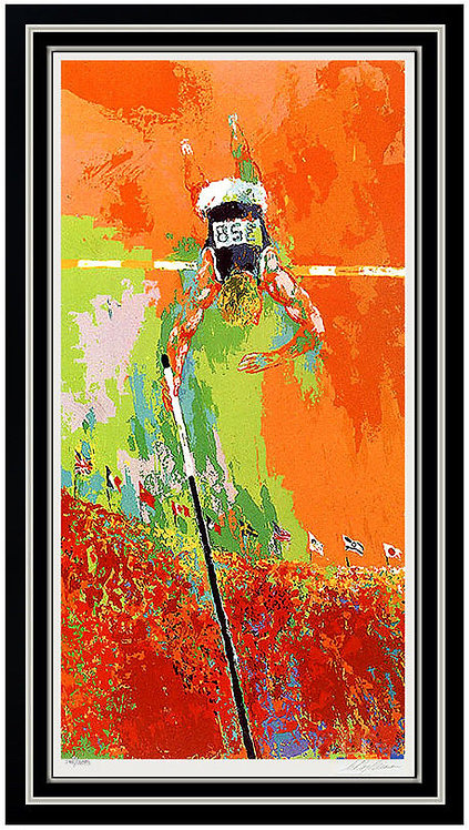 """""""Olympic Pole Vaulting"""" by LeRoy Neiman"""