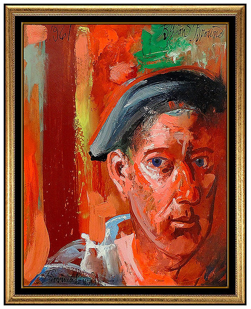 """Original Self Portrait"" by Byron Browne"